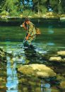 "BIRTHDAY CARD ""FLY FISHING DESIGN"" SIZE 6.75"" x 4.75"" By Lings FF0799"